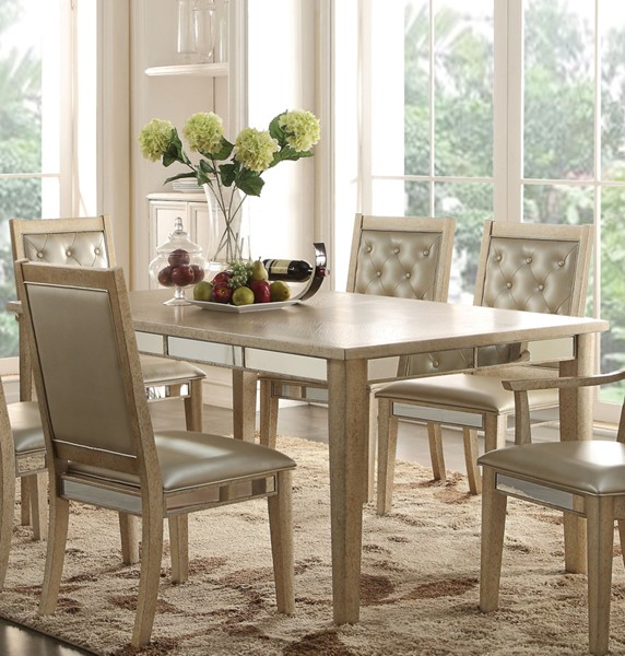 Acme Furniture Voeville Antique White Dining Table ACM-61000