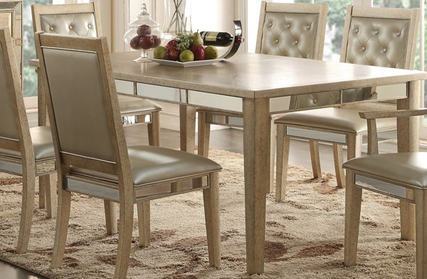 Acme Furniture Voeville Antique White Rectangle Dining Table ACM-61005