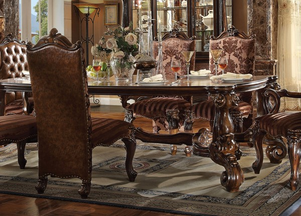 Acme Furniture Versailles Cherry Oak Solid Top Dining Table ACM-61115