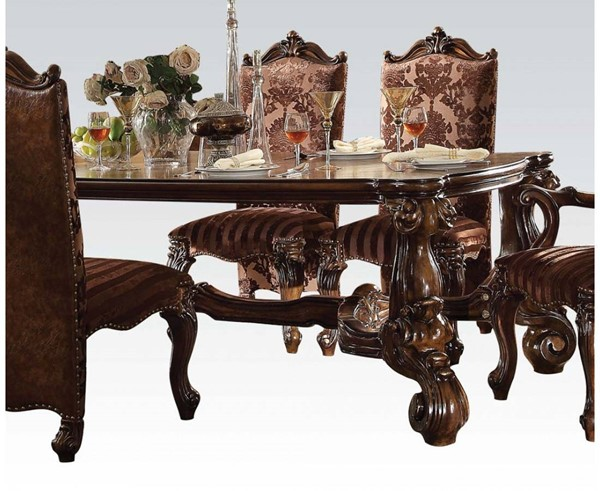 Versailles Traditional Cherry Oak Wood Oversized Dining Table ACM-61115