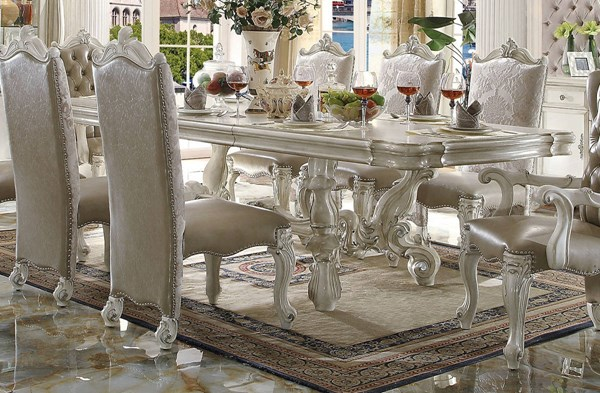 Acme Furniture Versailles Bone White Extension Dining Table ACM-61130