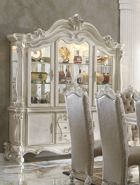 Versailles Traditional Bone White Wood Hutch ACM-61134H