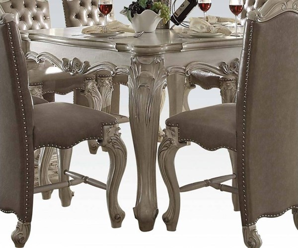 Versailles Traditional White Charry Oak Wood MDF Counter Height Tables ACM-611-BT-VAR