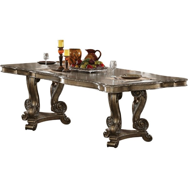 Acme Furniture Ragenardus Oak Double Pedestal Dining Table ACM-61290
