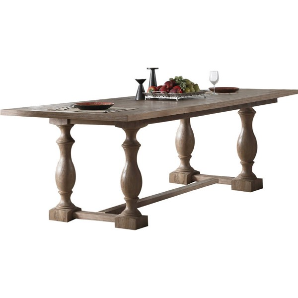 Acme Furniture Eleonore Weathered Oak Dining Table ACM-61300