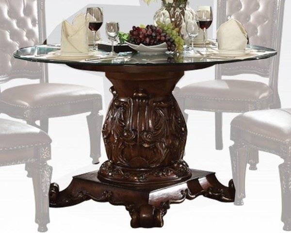 Acme Furniture Vendome Cherry 54 Inch Round Dining Table The Classy Home