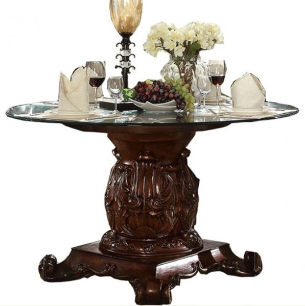 Acme Furniture Vendome Cherry 54 Inch Round Dining Table ACM-62010