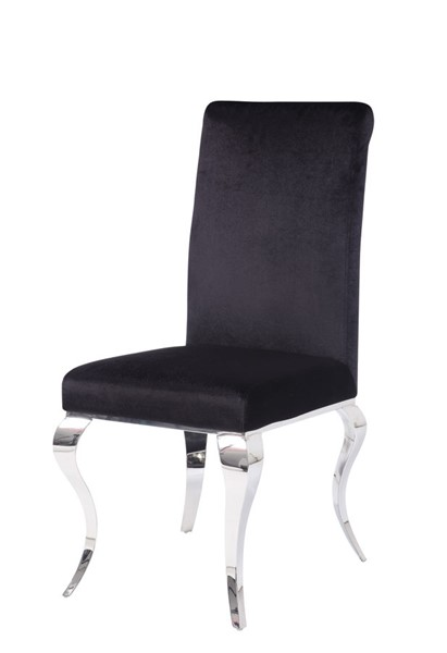 2 Acme Furniture Fabiola Black Side Chairs ACM-62072