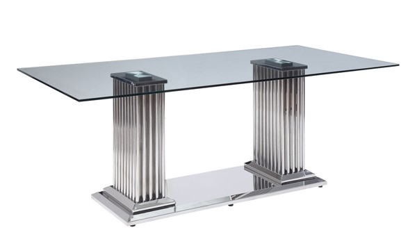 Acme Furniture Cyrene Clear Dining Table ACM-62075