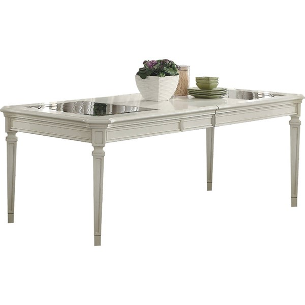 Acme Furniture Florissa Antique White Dining Table ACM-62090