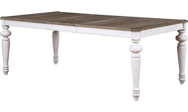 Acme Furniture York Shire Oak Antique White Rectangular Dining Table ACM-62270