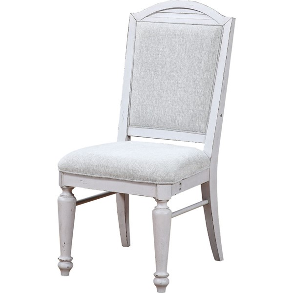 2 Acme Furniture York Shire Oak Antique White Side Chairs ACM-62272