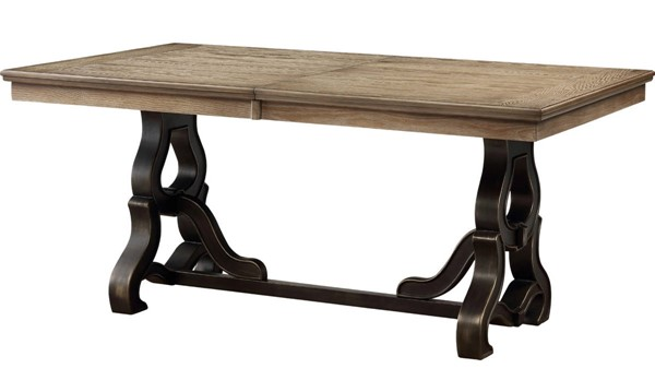 Acme Furniture Nathaniel Maple Dining Table ACM-62330
