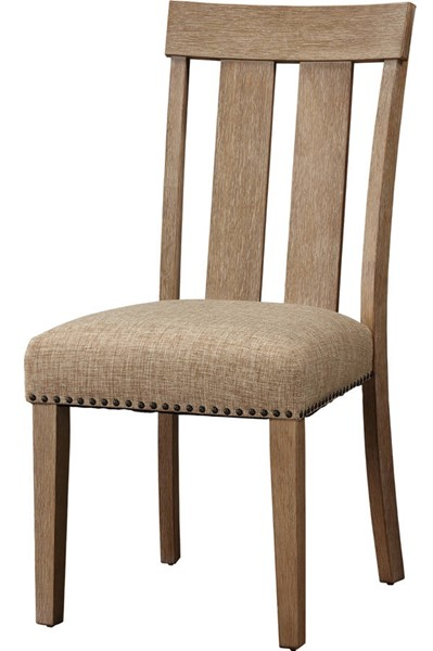2 Acme Furniture Nathaniel Maple Slatted Back Side Chairs ACM-62332