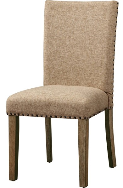2 Acme Furniture Nathaniel Maple Padded Back Side Chairs ACM-62334