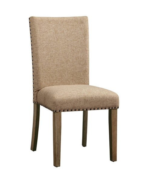 2 Acme Furniture Nathaniel Maple Fabric Wood Padded Back Side Chairs ACM-62334