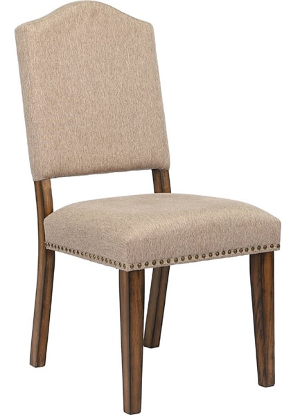 2 Acme Furniture Maurice Khaki Antique Oak Side Chairs ACM-62472