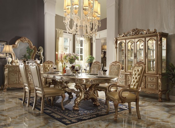 Acme Furniture Dresden Gold Patina Dining Table ACM-63150