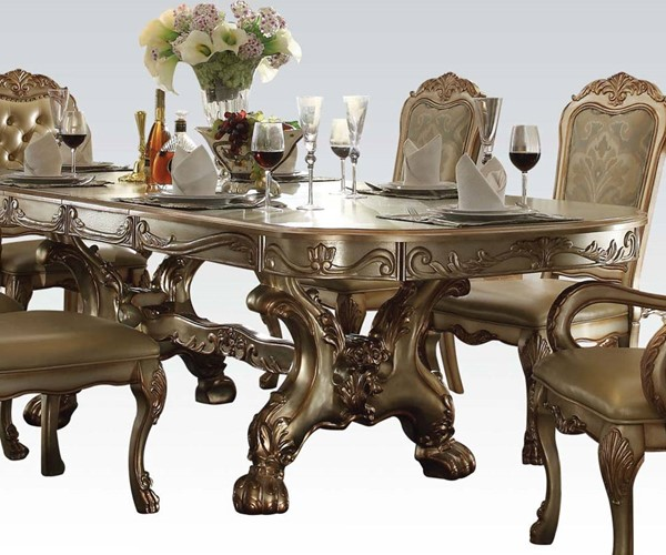 Dresden Classic Gold Patina Wood Dining Table ACM-63150