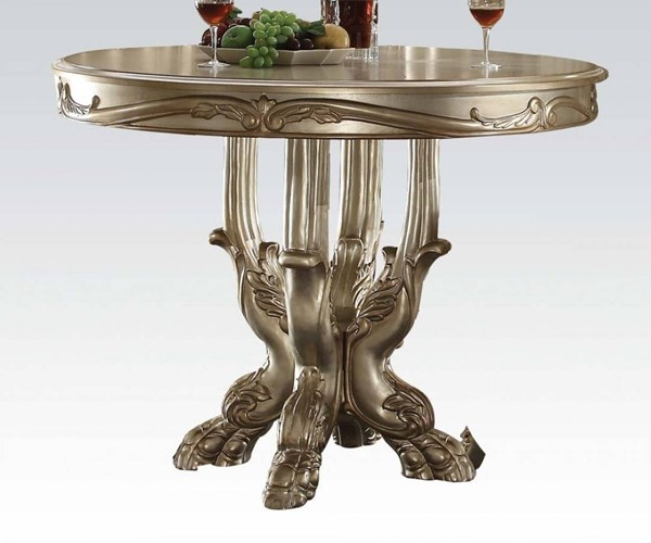 Dresden Classic Gold Patina Bone Counter Height Table ACM-63160
