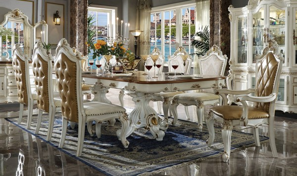 Acme Furniture Picardy Antique Pearl 9pc Dining Room Set ACM-634-DR-S1
