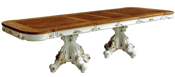 Acme Furniture Picardy Antique Pearl Dining Table ACM-63460