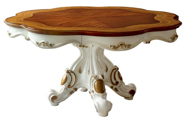 Acme Furniture Picardy Antique Pearl Round Dining Table ACM-63470