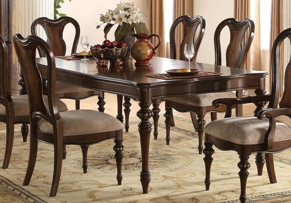Acme Furniture Azis Dark Walnut Dining Table ACM-63770