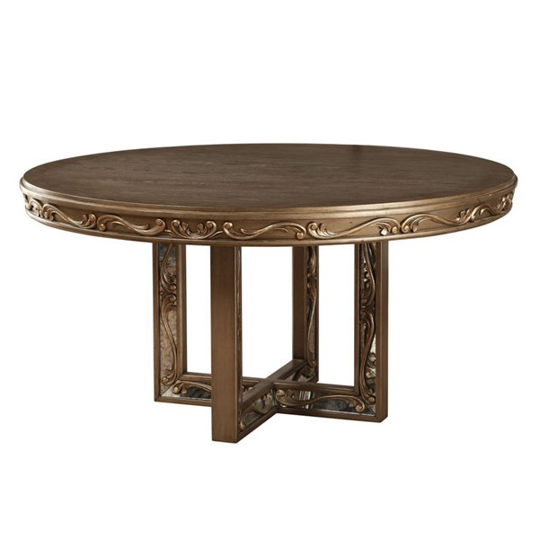 Acme Furniture Orianne Antique Gold Round Dining Table ACM-63785
