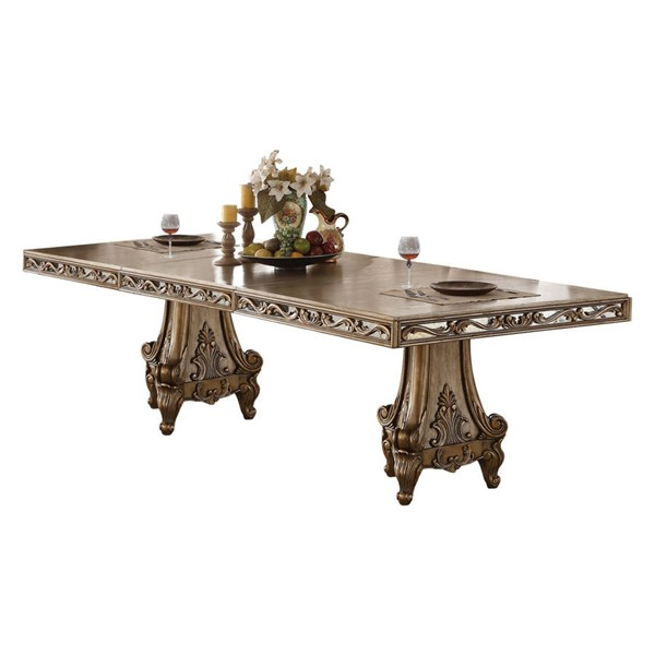 Acme Furniture Orianne Antique Gold Dining Table ACM-63790