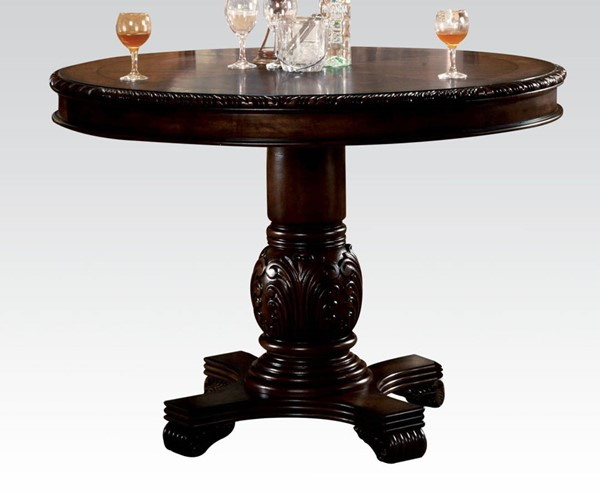 Chateau De Ville Transitional Espresso Wood Counter Height Table ACM-64082