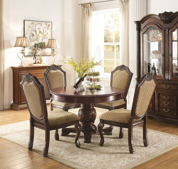 Acme Furniture Chateau De Ville Espresso 5pc Round Dining