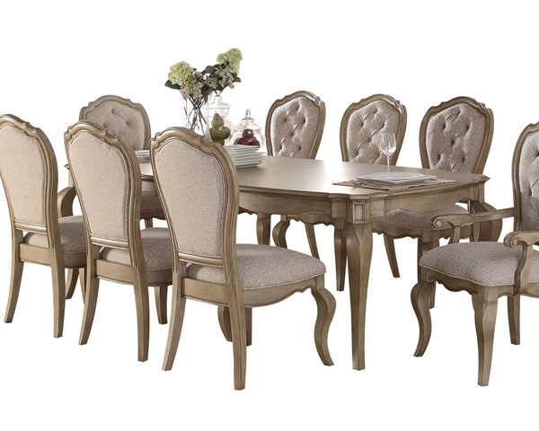 Acme Furniture Chelmsford Antique Taupe Dining Table ACM-66050