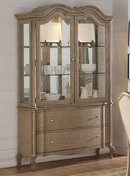 Chelmsford Antique Taupe Rubberwood Hutch & Buffet ACM-66054