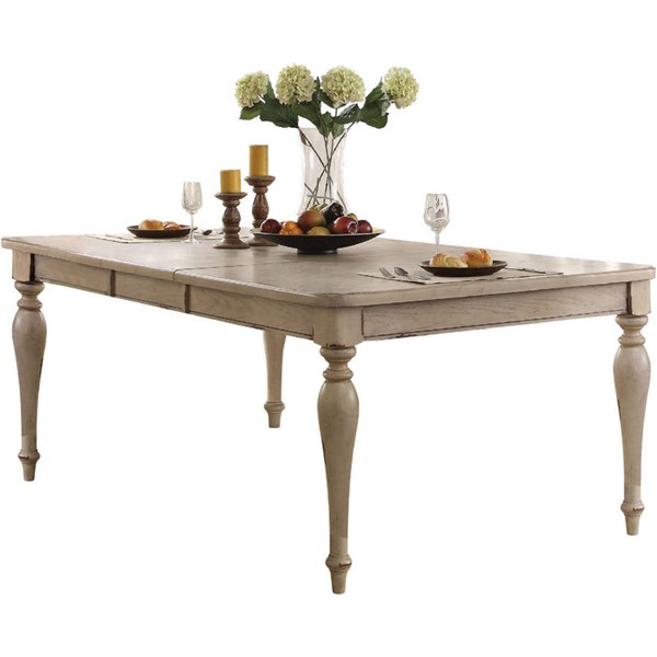 Acme Furniture Abelin Antique White Dining Table