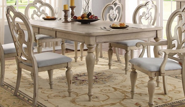 Acme Furniture Abelin Antique White Dining Table ACM-66060