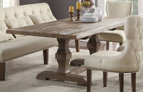 Acme Furniture Inverness Parker Double Pedestal Dining Table ACM-66080