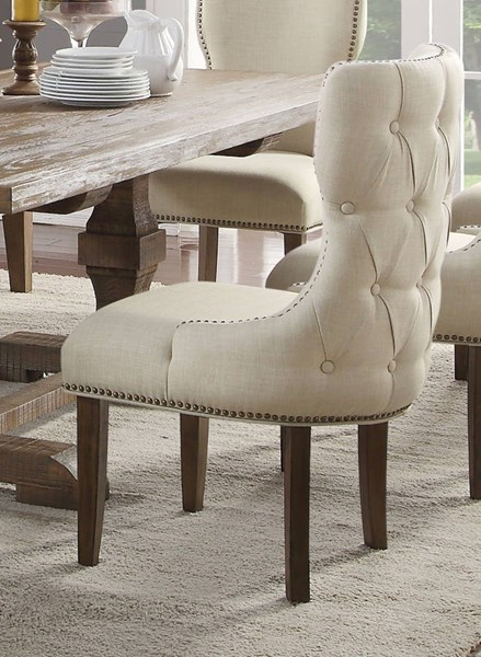 Inverness / Parker Traditional Salvage Oak Fabric Chair ACM-66082