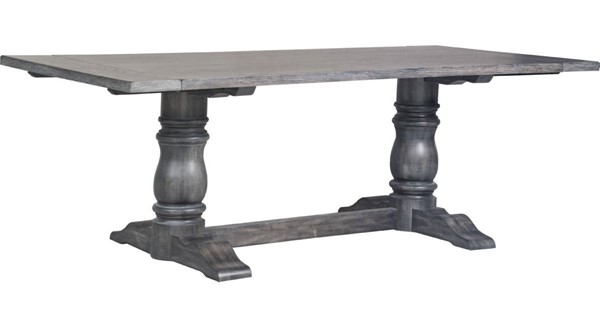 Acme Furniture Leventis Weathered Gray Trestle Base Dining Table ACM-66180
