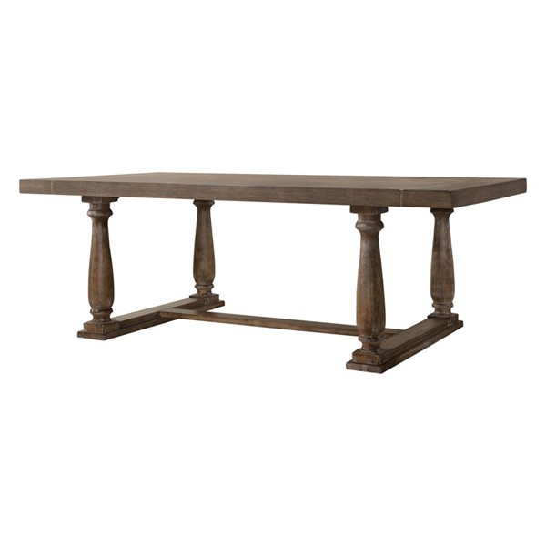 Acme Furniture Bernard Weathered Oak Dining Table ACM-66185