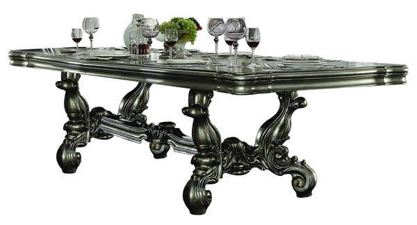 Acme Furniture Versailles Antique Platinum 136 Inch Dining Table ACM-66830