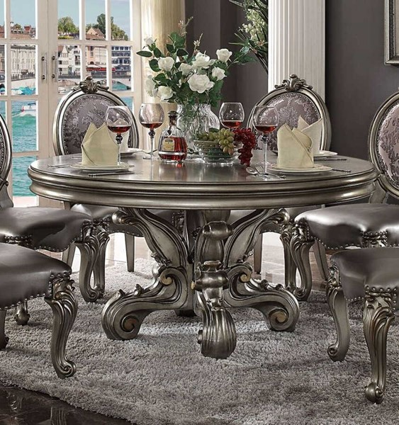Acme Furniture Versailles Antique Round Pedestal Dining Table ACM-66840
