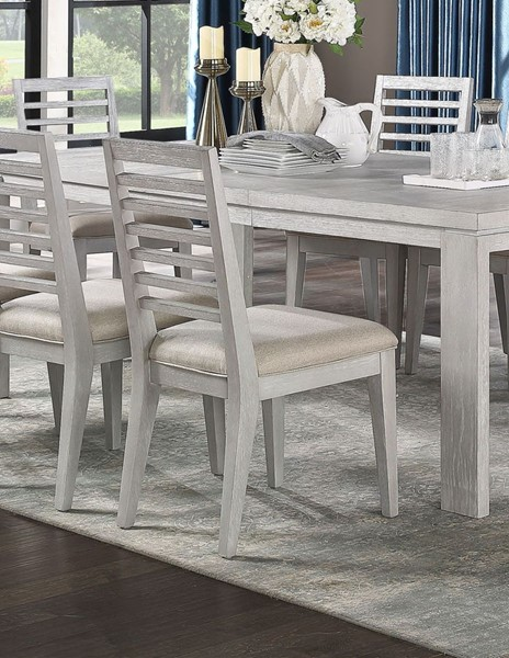 2 Acme Furniture Aromas White Oak Side Chairs ACM-68112