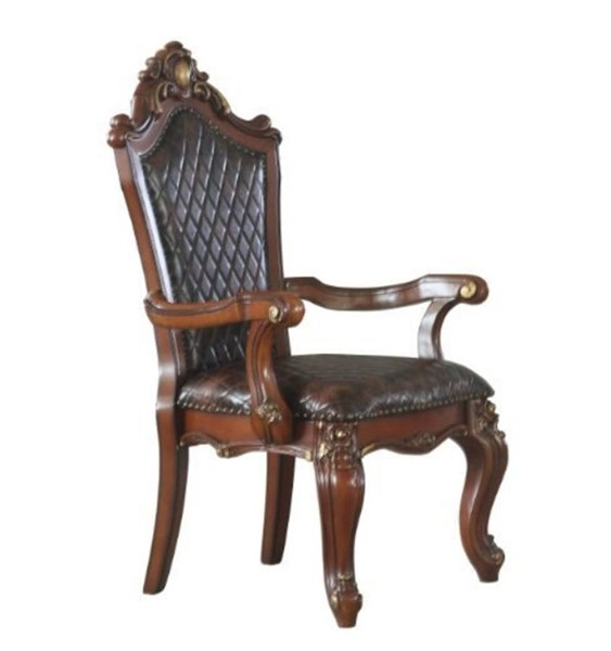 2 Acme Furniture Picardy Cherry Oak Dining Arm Chairs ACM-68223