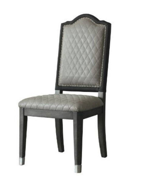 2 Acme Furniture House Beatrice Gray Charcoal Side Chairs ACM-68812