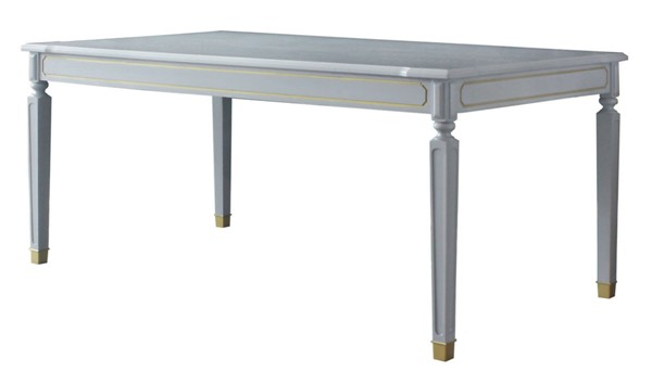Acme Furniture House Marchese Pearl Gray Dining Table ACM-68860