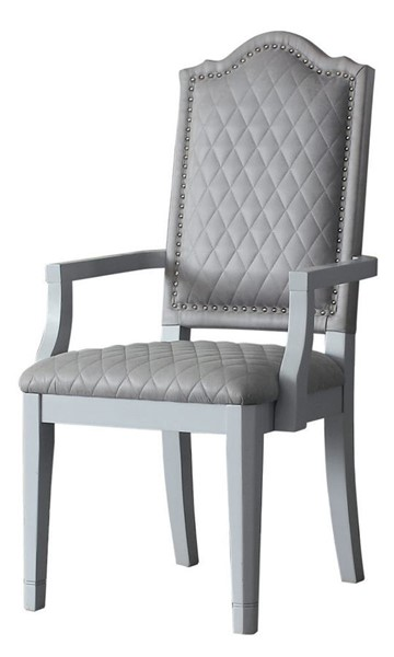 2 Acme Furniture House Marchese Pearl Gray Arm Chairs ACM-68863