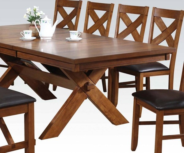 Apollo Casual Walnut Wood Rectangular Dining Table ACM-70000