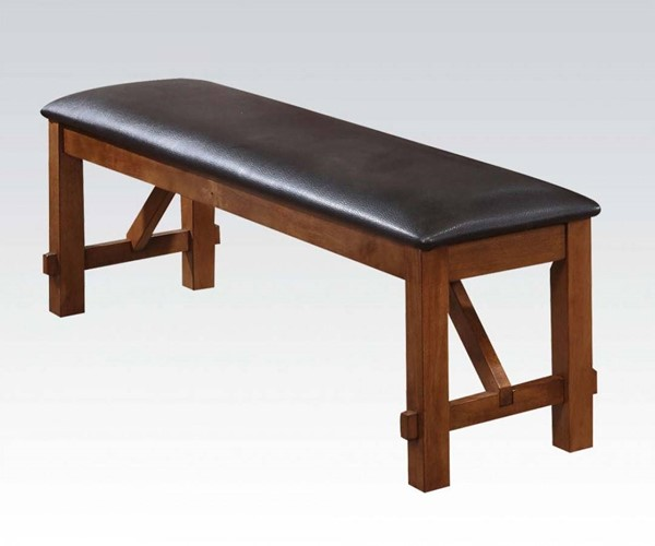 Apollo Casual Espresso Walnut PU Wood Bench ACM-70004