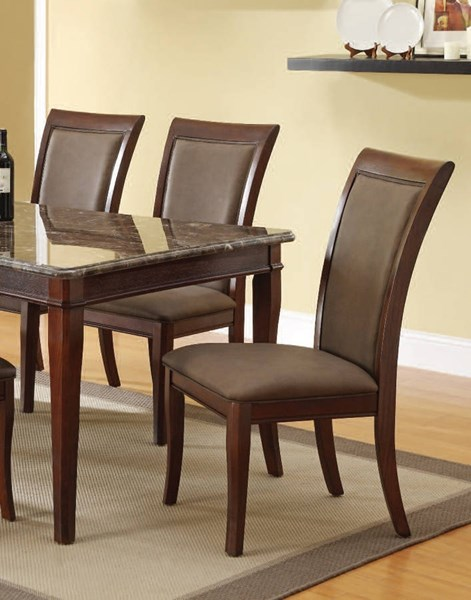 2 Danville Casual Walnut Wood PU Armless & Solid Back Side Chairs ACM-70062